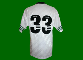 Away top, without player number which is typically pre-season. Could be 98/99