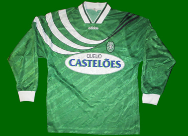Equipamento do Sporting verde 1994/95, alternativo de mangas compridas