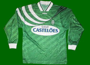 Sporting Lisbon 1994/95, Green away jersey long sleeves