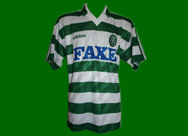 Sporting Lisbon football kit, worn in match, Adidas German make 93 94
