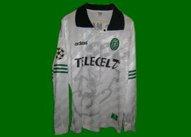 white away player issue third kit Sporting Lisbon 97 98 Pedro Martins