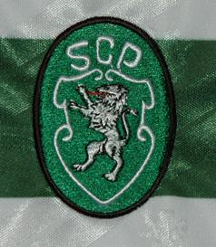 1994/95. Equipamento de futebol de jogo do Sporting