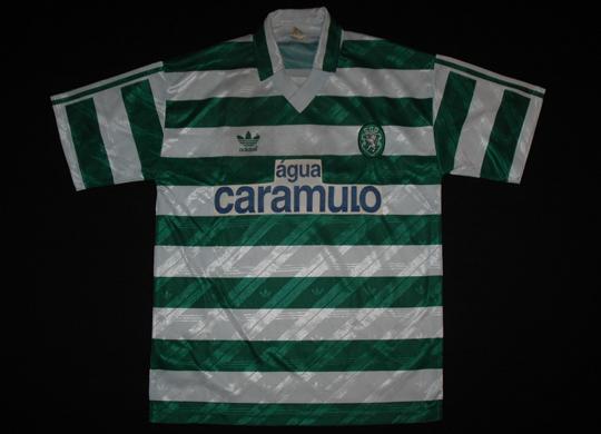 1992/93. Camisola de jogo do Leal, Adidas Caramulo