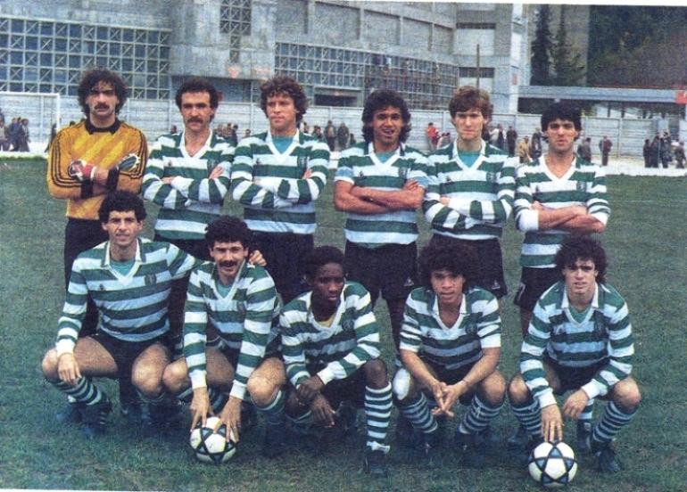 Reservas do Sporting 1985/86: camisola Adidas amarela sem emblema