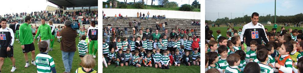 Visita dos jogadores e equipa técnica de 2007/08 à EAS CIF