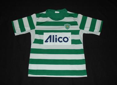 1990/92. Equipamento listado da Escola Academia Sporting Loures