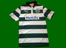 Camisola listada da Academia Sporting Alta de Lisboa 2012 13