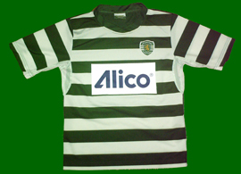 Shirt from a young player of the Escola Academia Sporting from Póvoa de Santa Iria, with sponsor of the insurance company Alico