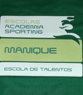 equipamento Sporting escola de futebol academia Manique