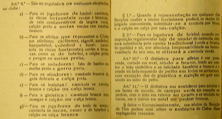 Os Estatutos de 1947: os equipamentos alternativos
