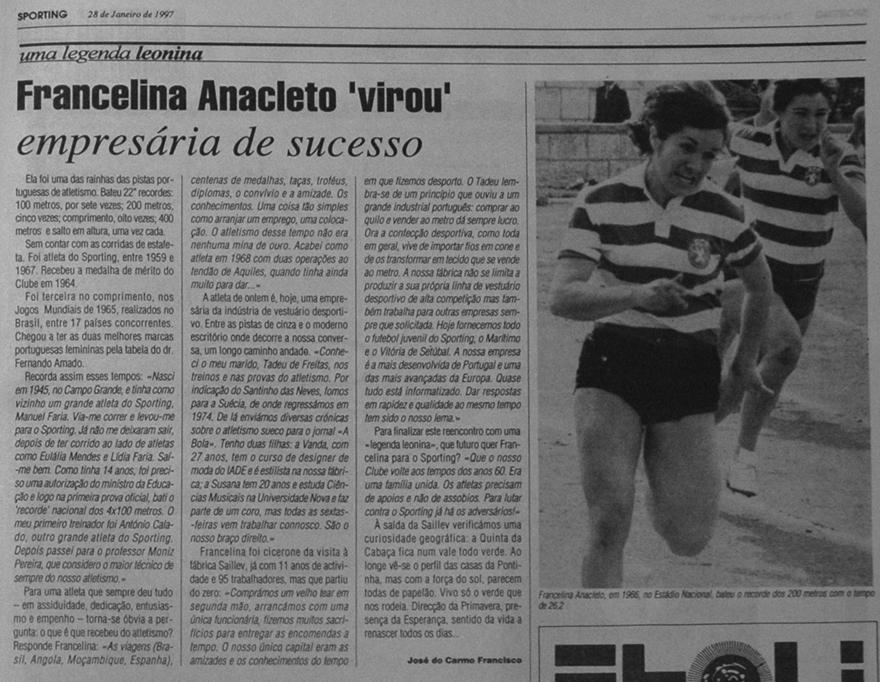Uma legenda leonina: Francelina Anacleto, empresária de sucesso Saillev