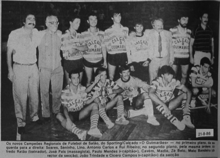 Sporting/Calçado O Guimarães: futebol de cinco em 1986