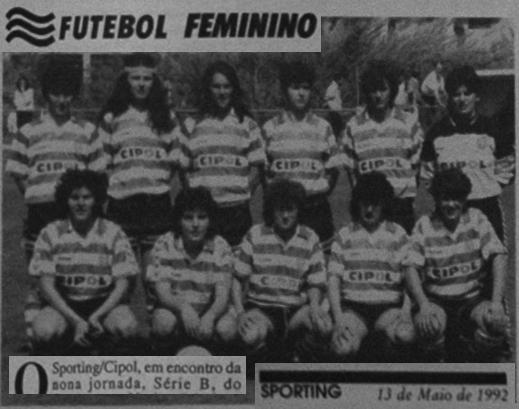Sporting/Cipol: futebol feminino em 1992