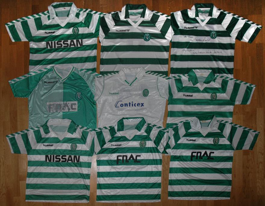 9 camisolas Hummel do Sporting