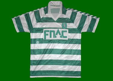1987/88. Camisola do Sporting contrafeita muito bonita FNAC