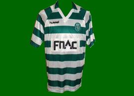 equipamento sporting de jogo Paulinho Cascavel 1989 1990