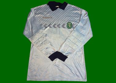 1987/88, camisola Hummel de jogo de guarda redes do Damas