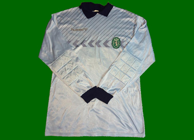 1987/88, camisola Hummel de jogo de guarda redes do Rui Correia