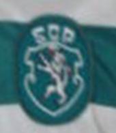 Equipamento de jogo Sporting 1987 1989 logo