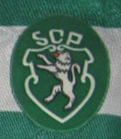 Match worn Sporting Lisbon jersey, make Hummel with sponsor Nissan 1989 90