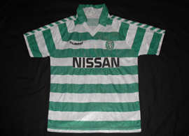 Player issue shirt Sporting 1990 swap with Vitesse kit manager