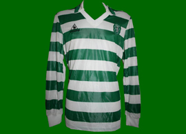 Longsleeved shirt match worn by Sporting Lisbon football player Antonio Sousa