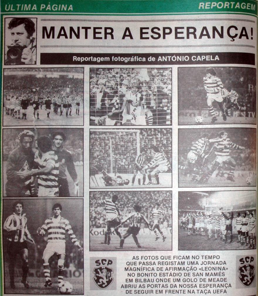 Athletic Bilbau - Sporting 27 de novembro de 1985