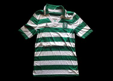 1986/87. Camisola de futebol de Fernando Mendes do Sporting