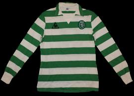 Sporting 1983/1984. Camisola de jogo Le Coq Sportif, do Jordão