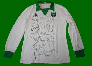 Equipamento de jogo de Manuel Fernandes alternativo branco Le Coq Sportif 1983 84