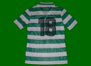 1985/87. Camisola listada da Le Coq Sportif, semelhante à nº 5 acima
