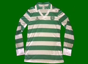 1985/87. Camisola listada da Le Coq Sportif