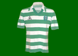 1982/1983 Sporting Lisbon match worn Le Coq Sportif home kit