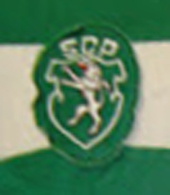 Sporting Lisbon match worn jersey made by Le Coq Sportif, unknown player