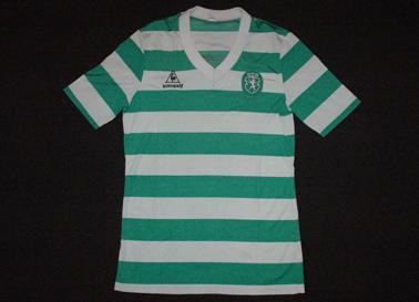 1986/87. Camisola de jogo Le Coq Sportif de mangas curtas