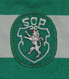 1986/87. Camisola de jogo Le Coq Sportif do Sporting de mangas curtas