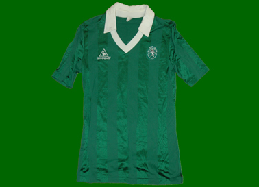 1985/86. Le Coq Sportif pre season match worn shirt. A classic, short sleeves