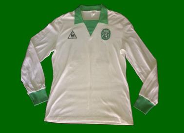 1983/84. Camisola alternativa da Le Coq Sportif