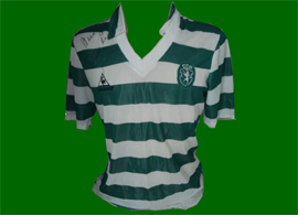 Matchworn jersey Sporting Lisbon 1985 to 1987