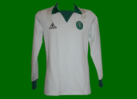 Sporting 1983 1984 1985 branca camisola de jogo Le Coq Sportif
