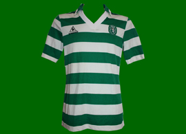 Sporting 1985 1986 1987 Jordao hooped green white jersey n 11
