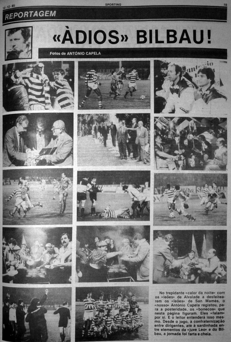 Sporting - Atlético de Bilbao 11 de dezembro de 1985