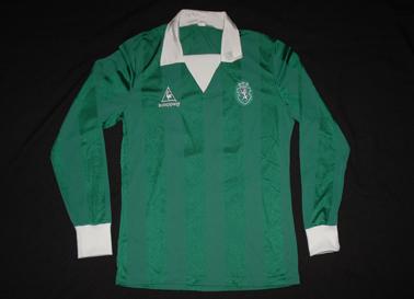 Camisola Sporting-Athletic Bilbao, 1/8 de final da Taça UEFA, 1985 Le Coq Sportif