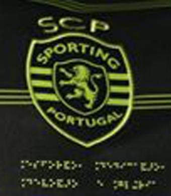 2017/18. Camisola de jogo do Sporting, do Bruno Fernandes Braille