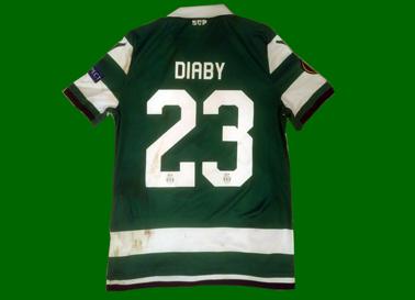 2018/19. Camisola de jogo usada por Diaby