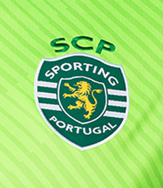 2017/18. Equipamento de guarda redes amarelo do Sporting