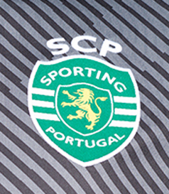 2017/18. Equipamento de guarda redes cinzento do Sporting