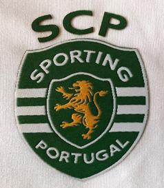 2018/19. Camisola de reserva branca de jogo do Sporting Liga Europa