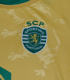 Sporting Lisbon 2014/15 away shirt in gold/yellow
