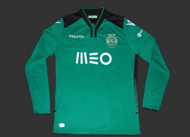 Camisola de goleiro do Sporting de Portugal, fabricante Macron de Itália